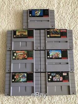 7 Super Nintendo Snes Jeux Lot Super Mario Kart / Monde / Toutes Les Stars, Yoshis Island