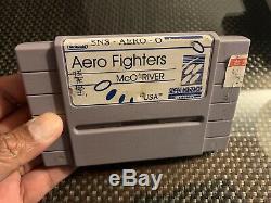 Aero Fighters Super Nintendo Snes Prototype Dev Critique Cart Rare Ne Fonctionne Pas