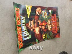 Affiche De Pays De Donkey Kong Snes Super Nintendo Video Store Jeu 1994 Promotionnel