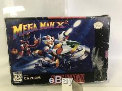 Authentique Mega Man X2 (super Nintendo Snes) Protector Manuel Cib Complete Box