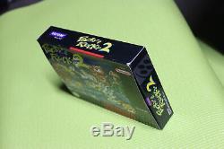 Authentique Pocky Et Rocky 2 Original Snes Super Nintendo Game Box