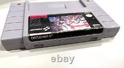 Authentique! Super Castlevania IV 4 (super Nintendo, Snes, 1991) Testé Et Travail