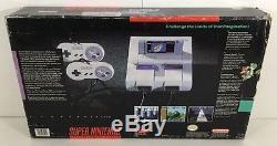 Boîte De Système De Console Super Nintendo Snes En Boîte Mario World Complete Cib