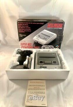 Boxed Complète Super Nintendo Nes Contrôle Set Pal Aus 1992 Snes Excellent Cond
