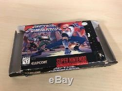 Captain Commando Complet Snes Super Nintendo Cib Original Game Capcom
