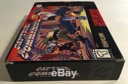 Captain Commando Super Nintendo Snes Cib 100% Complète Ex