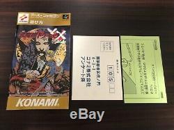 Castlevania Dracula Akumajo XX Super Famicom Sfc Snes Japon Cib Livraison Gratuite