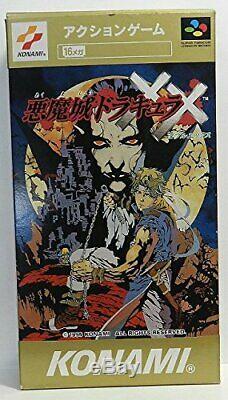 Castlevania Dracula Akumajo XX Super Famicom Sfc Snes Japon Livraison Gratuite