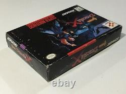 Castlevania Dracula X Super Nintendo Snes Cib Complet + Carte Reg