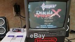 Castlevania Dracula X Super Nintendo Snes Cib Complet Dans La Boîte Tous Les Inserts