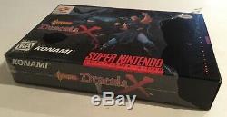 Castlevania Dracula X Super Nintendo Snes Cib Presque Complet À 100%