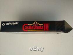 Castlevania IV 4 Super Nintendo Snes Complete In Box Cib Et Excellent + Euc