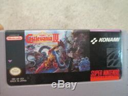 Castlevania IV 4 (super Nintendo Snes) Cib Complète Avec L'affiche + Magazine Nm