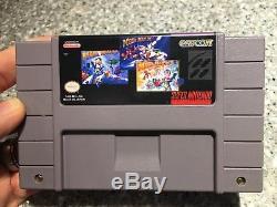 Chariots Mega Man X + X2 + X3 (super Nintendo, Snes) Nouveau