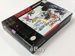 Chrono Trigger Complete In Box Game Pour Super Nintendo Console Snes Système Cib