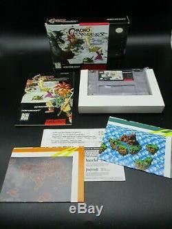 Chrono Trigger Sns Ovp Cib Super Nintendo Ntsc Top Carte Postale Complète