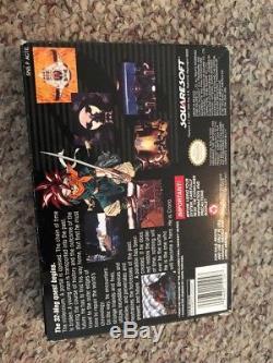 Chrono Trigger (super Nintendo, Snes) Authentique Avec Boîte Manuel Et 1 Affiche