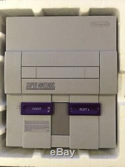 Cib Super Nintendo Snes Console Complète Dans L'encadré Super Mario World 2 Contrôleurs