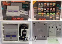 Console De Jeu Gioco Super Nintendo Snes Americano USA Ntsc Control Set Scatolato