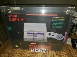 Console De Jeu Super Nintendo Snes Qualifiée Nouvelle Scellée Presque Neuve Vga Q80 +
