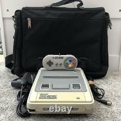 Console De Système De Divertissement Super Nintendo, Sac, Contrôleur Et Plombs (testés)
