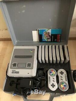 Console Du Système De Divertissement Super Nintendo Bundle 8 Jeux + Extras Rare Menthe