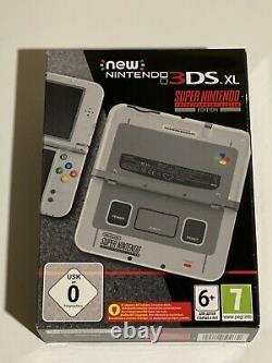 Console Nintendo 3ds XL Super Nintendo Snes Edition (rare) Flambant Neuf