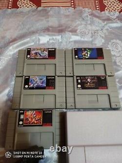 Console Nintendo Snes Super USA Ntsc Versione Americana Con 5 Snes Giochi Repro