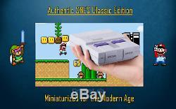Console Super Nintendo Classic Edition Système De Divertissement Snes Mini 480+ Jeux
