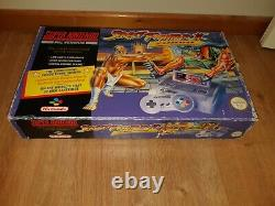 Console Super Nintendo Snes En Boîte Avec Super Street Fighter 2 Turbo 1 Chip