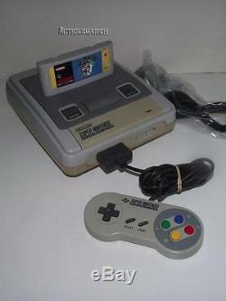 Console Super Nintendo, Super Mario World, 1 Contrôleur D'origine Snes Pal Refurb
