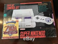 Console Système Super Nintendo Complète Avec Boîte Snes # Snz1 Avec Bundle Zelda