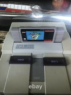 Console Système Super Nintendo Snes Avec 2 Contrôleurs Oem Et 4 Jeux Testés