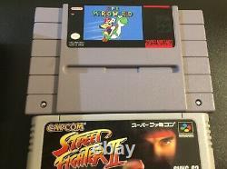 Console Système Super Nintendo Snes Avec Mario World + Famicon Street Fighter 2