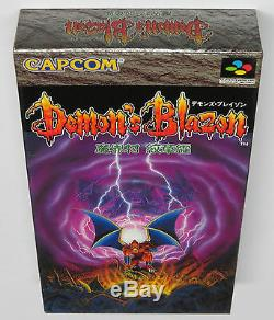 Demon's Blazon Demons Crest Super Famicom Japon Jeu Neuf De Jpn