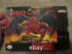 Demon's Crest (super Nintendo Snes) Cib Complet Avec Collecteur D'affiches
