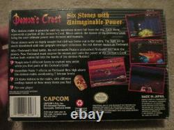 Demon's Crest (super Nintendo Snes) Cib Complet Avec Poster Nice
