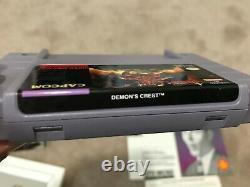 Démon's Crest (super Nintendo Snes) Complet Cib Collecteur