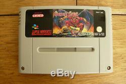 Demons Crest Super Nintendo Snes Capcom Boxed Pal Jeu Bonne Condition Véritable