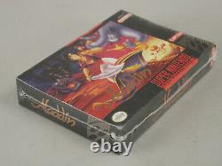 Disney's Aladdin Super Nintendo Snes 1993 Majesco Marque New & Factory Scelled