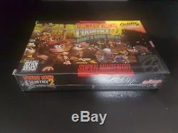Donkey Kong Country 2 Diddy Kong Quête Snes Super Nintendo Brand New