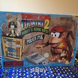 Donkey Kong Country 2 Pirate Pack De Big Box Pal Snes Super Nintendo Jeux Console