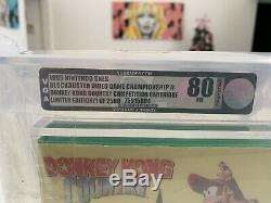 Donkey Kong Country Concours Cartouche Vga 80 Blockbuster Snes Super Nintenfo