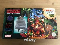 Donkey Kong Country Limited Edition Console Pack Super Nintendo Snes Rare Boite