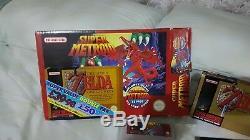 Double Pack Super Nintendo Snes Metroid Zelda Rare