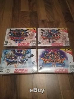 Dragon Quest 1, 2, 3, 5, 6 (timewalk Jeux, Snes, Super Nintendo, Nouveau)