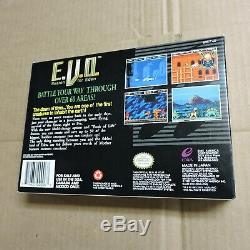 E. V. O. À La Recherche D'eden Super Nes Super Nintendo Snes Evo Complete Cib Mint