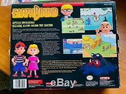 Earthbound Super Nintendo Snes Cib Complete Box Avec Le Guide Panier Rpg Rare