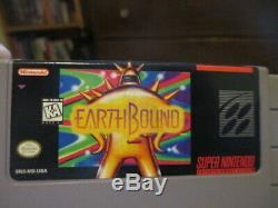Earthbound (snes Super Nintendo) Complète Cib Avec 3 Scratch N Sniff + Magazine Ad
