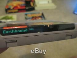 Earthbound (snes Super Nintendo) Complète Cib Avec Scratch N Sniff + Magazine Ad
